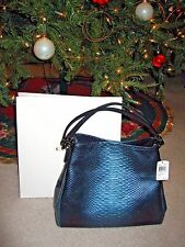 COACH PHOEBE SHOULDER BAG IN METALLIC SNAKE EMBOSSED LEATHER, F36627 NWT$550
