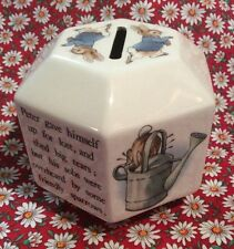 Beatrix Potter Wedgwood Ceramic Money Box, Peter Rabbit