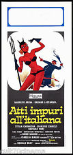 ATTI IMPURI ALL'ITALIANA LOCANDINA CINEMA FILM DESETA 1976 DEVIL PLAYBILL POSTER
