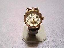 STAUER MEN'S 42mm GOLD REGULATOR II OPEN-HEART 22 JEWEL AUTOMATIC WATCH 20317