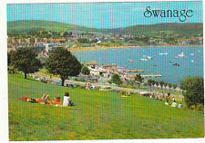 Unused  Postcard Dorset, Swanage from the Downs.