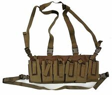 Bungee Retention Chest Rig - 6/12 Magazine - Coyote - Made in USA NEW