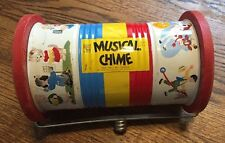 Fisher Price Musical Chime #722 Works Great  No Handle Vintage Toy Roller