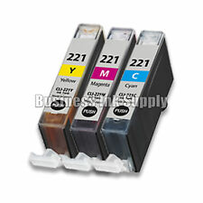 3 COLOR CLI-221CLI221 CLI 221 Ink Tank for Canon Printer Pixma iP3600 iP4600 NEW