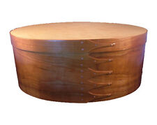Size #9 Shaker Oval Box with Cherry Bands and Birdseye Maple Top