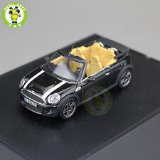 1/43 Mini Cooper S Cabrio Convertible Black R57 2009 MINICHAMPS Diecast Model