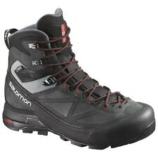 New 2017 Mens Salomon X ALP MTN GTX Hiking Boots / Black Gray / US 11.5 / 373283