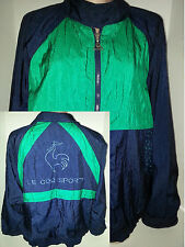 LE COQ SPORTIF Womens Jogging Track Warm-Up Jacket Coat Size Large Blue Green