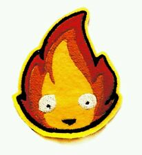 Calcifer Howl's Moving Castle Studio Ghibli embroidered iron on patch 85mm
