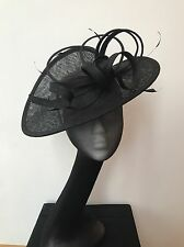 Ladies Black Wedding Hat Bnwt Maddox Fascinator Ascot Aintree Race Day Millinery