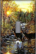 DEER IN THE WOODS - DEER HOME DECOR SINGLE LIGHT SWITCH PLATE COVER