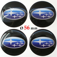 4x SUBARU Ø 56 mm Alloy Wheel Center Centre Hubs Caps Emblems Stickers
