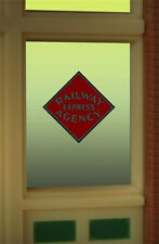 "RAILWAY EXPRESS AGENCY  WINDOW SIGN -CAN BE TRIMMED AS SMALL AS 1"" W X 0 .9"" T"
