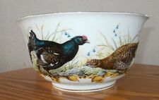 "Limited Franklin Porcelain Bowl 1981 ""The Game Bird Bowl"" by Basil Ede Gold Trim"