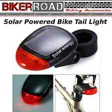 BIKER Road Solar Power Rechargeable Bicycle Tail Light  -  BLACK