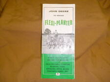 vintage John Deere 70 Series Flexi-Planter brochure Unit-Type Tool-Bar Drill