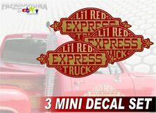 3 Mini Li'l Red Express Graphic Decals for 1978 1979 Dodge Little Red Truck
