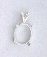 7x5 7mm x 5mm Oval Cab Cabochon Gem Pendant Sterling Silver Prenotched  Mounting
