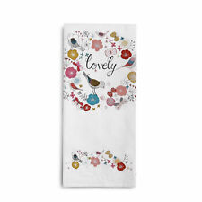 LOVELY Bird Floral Kitchen Tea Towel in Gift Box Mother's Day Gift New with Card