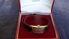 Very Rare Vintage 1926 Omega Curved Tank 17 Jewels 14K Solid Gold Watch