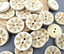 50X Wooden Round buttons Fit Sewing decoration 2-holes Scrapbooking Crafts 20mm