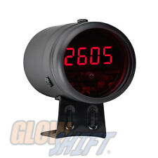 BLACK DIGITAL RACING LCD TACHOMETER TACH & SHIFT LIGHT