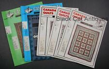 Lot of Five Canada Quilts Magazines 1990 Issues 82 To 86 Vol. XVIV No. 1 2 3 4 5