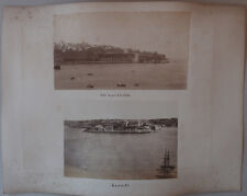 2 Photos Albuminés La Valette Malte 1 Photo Tunis Vers 1880/90