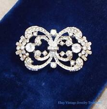 Vintage Coro Craft Corocraft Sterling Silver Rhinestone Pin Estate