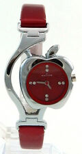Women Watch Ladies Wrist Watch Girl Watch Leatherrete Belt Nolilon 26 RED
