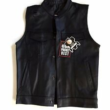 NEW Men's Gun Pocket Vest Genuine Leather Black Size 40 (S/M) Pakistan