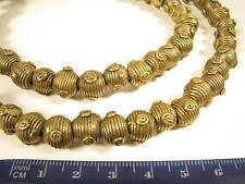 Filamento OTTONE PERLE br7 10mm gelbguß Ghana Brass Beads Ashanti Akan afrozip