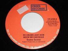 Swanee Quintet: He Knows Just 45 - Black Gospel Soul
