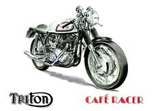 Triton Norton Triumph 1960s Cafe Racer Motorbike Motorcycle Birthday Card