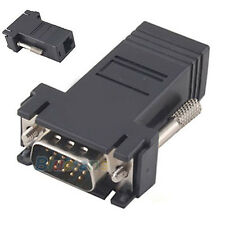 Vga Extender Male To LAN CAT5 CAT6 RJ45 Network Cable Female Connector Adapter