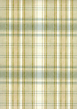 Countryside, Green Sunny Plaid Wallpaper