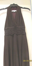 NWOT Evan Picone Brown Polyester Spandex Stretch Sleeveless Knee Length Dress 2P