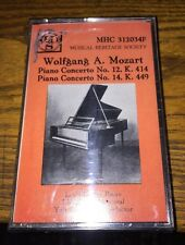Wolfgang A. Mozart Piano Concerto No 12 K.414, No 14 K 449 Cassette New!