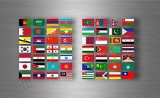 Planche autocollant sticker drapeau pays rangement classement timbre asie r2