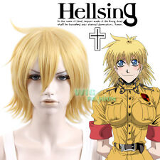 Hellsing Seras Victoria Short Yellow Blonde Anime Cosplay Wig