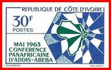 IVORY COAST 1963 AFRICAN UNION imperforated SC#200  MNH