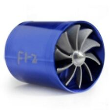 New Air Intake Turbonator Supercharger Dual Fan Propeller Turbo Gas Fuel Saver