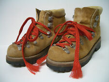 Women's Vintage Wilderness Tan Suede Leather Mountain Hiking  Boots US Sz 5.5 M
