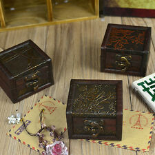 Archaize Little Box Vintage Wooden Storage Box for Jewelry or Other Small Items