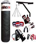 MADX 17 Pezzo 1.5m Pesante Imbottito Sacco Da Box Set,Guanti,Supporto,Catene MMA