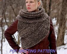 Katniss inspired cowl vest shawl armor sweater PATTERN TUTORIAL