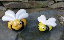 2 Ceramic Bumble Bee Garden outdoor Indoor SALE Ornament Christmas Gift