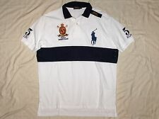 POLO RALPH LAUREN Classic Fit BIG PONY Mesh Polo Shirt, Crest, White, MEDIUM nwt