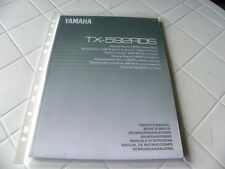 Yamaha TX-592RDS Owner's Manual  Operating Instruction   New