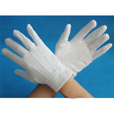 1 Pair Thicken Military Parade Etiquette Inspection Gloves White Formal Gloves
